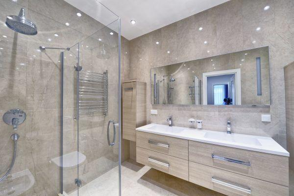 shower screen and mirror install
